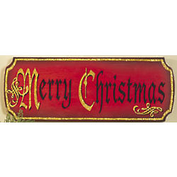 Merry Christmas Wooden Wall Sign
