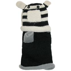 Animal Face Fingerless Mitten Gloves