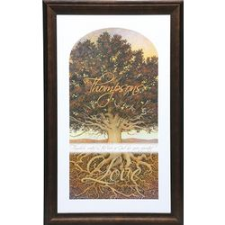 Small Personalized Family Tree Framed Print