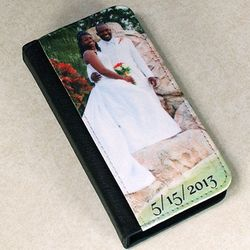 Photo and Text Personalized Bi-Fold Case for iPhone