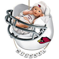 Arizona Cardinals Personalized Baby's First Christmas Ornament