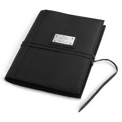 Engravable Black Wrap Leather Journal
