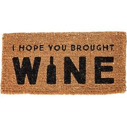 I Hope You Brought Wine Natural Coir Doormat
