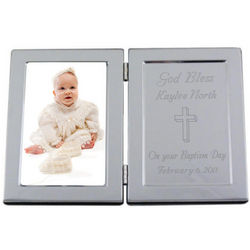Personalized Hinged Frame with Cross