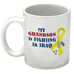 Someone Fighting In Iraq Personalized Military Coffee Mug