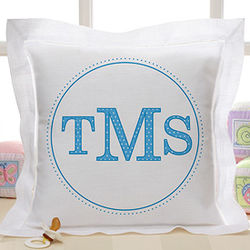Monogram Linen Pillow