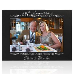 25th Silver Wedding Anniversary Picture Frame