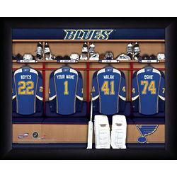 Personalized NHL St. Louis Blues Locker Room Print