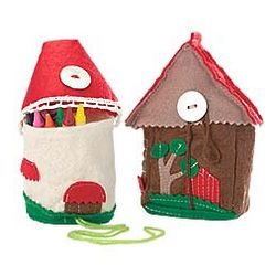 Felt House Crayon Holder