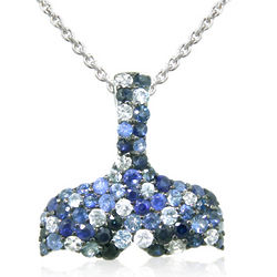 Balissima Whale's Tail Sapphire Splash Pendant