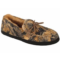 Moc Men's Camouflage Sheepskin Slipper