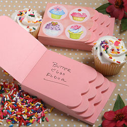 Cupcake Design Notepad Favors