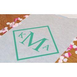 Personalized Diamond Monogram Aisle Runner