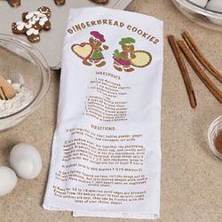 Gingerbread Cookie Recipe Kitchen Towel