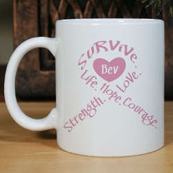 Breast Cancer Awareness Personalized Coffee Mug