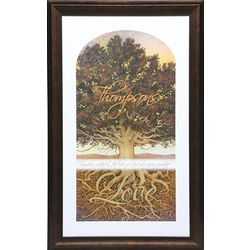 Large Personalized Family Tree Framed Print