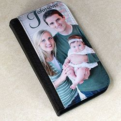 Photo and Text Personalized Bi-Fold Case for Samsung Galaxy