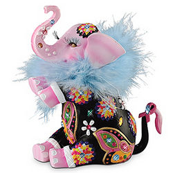 Trumpeting Joy Breast Cancer Awareness Elephant Figurine