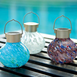 Blown Glass Solar Tea Lantern