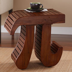 Pi Wooden Accent Table