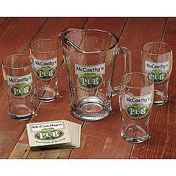 Personalized Traditional Irish Pub Pint Glasses Set