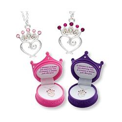 Little Girls Princess Crown Pendant