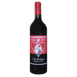 Personalized Be Mine Wine Label