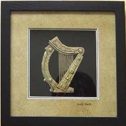 Irish Harp in Black Frame