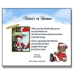 Baby's 1st Christmas Poetry Keepsake