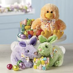 Easter Plush Candy Critter Trio