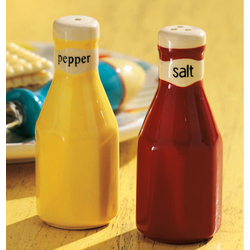 Ketchup & Mustard Salt & Pepper Shakers