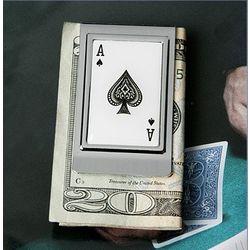 Persoanlized Aces Double Money Clip