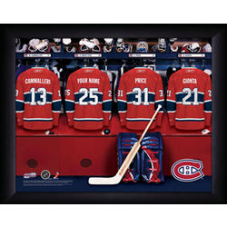 Personalized NHL Montreal Canadians Locker Room Print