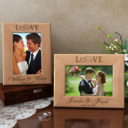 Personalized Our Forever Love Wooden Picture Frame