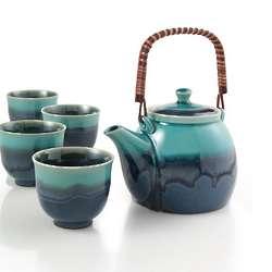Azure Blue Teapot Set