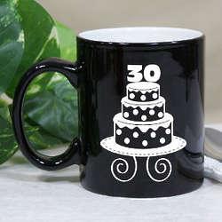 Personalized Birthday Cake Two Tone Mug