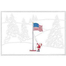 Military Officers Association Santa's Flag Christmas Card