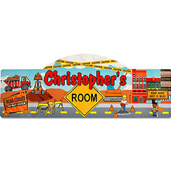 Personalized Construction Kid's Sign