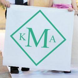 Diamond Monogram Custom Wedding Banner