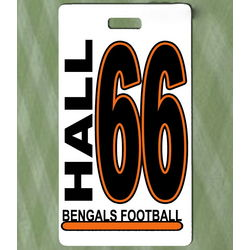 Custom Photo Football Bag Tag
