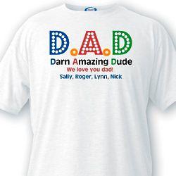 Darn Amazing Dad Customized T-Shirt