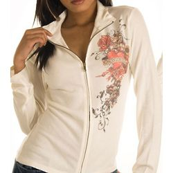 Ivory Marguerite Hearts and Roses Cardigan