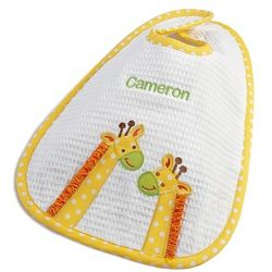 Embroidered Yellow Giraffe Baby Bib