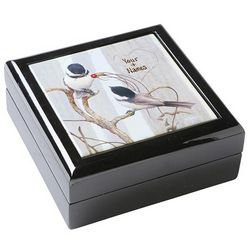 Personalized Chickadees Keepsake Box