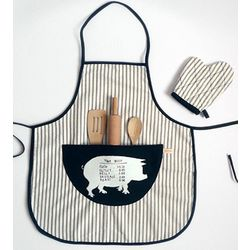 Children's Pig Apron Set