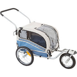 2-in-1 Bicycle Pet Trailer and Jogging Stroller