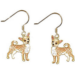 Chihuahua Best In Show Crystal Accented Earrings