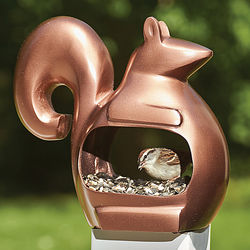 Enchanted Squirrel Bird Feeder