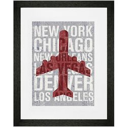 Airplane Places To Go Framed Wall Art