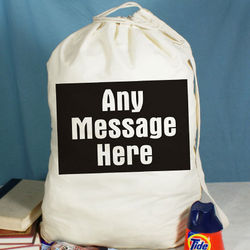 Any Message Personalized Laundry Bag